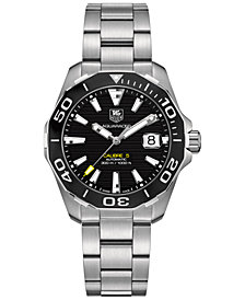 TAG Heuer Men's Swiss Automatic Aquaracer Calibre 5 Stainless Steel Bracelet Watch 41mm WAY211A.BA0928