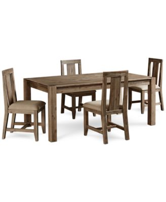"Canyon 5 Piece Dining Set, Created for Macy's,  (72"" Dining Table and 4 Side Chairs)"