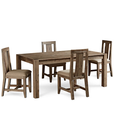 Canyon 5 piece dining set table and 4 side chairs for Macys dining table