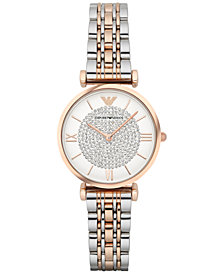 Emporio Armani Women's Gianni T-Bar Two-Tone Stainless Steel Bracelet Watch 32mm AR1926