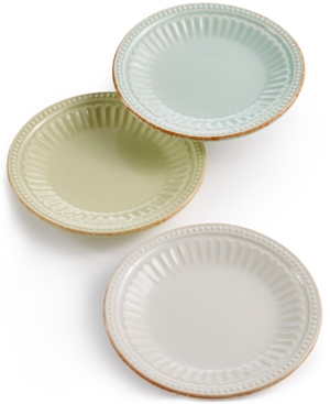 Lenox French Perle Groove Collection Stoneware 3-Pc. Mini Pl