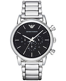Emporio Armani Men's Chronograph  Stainless Steel Bracelet Watch 46mm AR1894