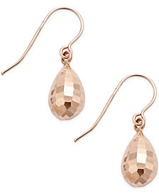 Mirrored Teardrop Earrings in 10k Rose Gold
