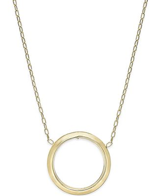Open Circle Pendant Necklace in 10k Gold