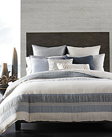 CLOSEOUT! Hotel Collection  Linen Stripe Duvet Covers, Created for Macy's