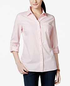 Roll-Tab Button-Up Shirt