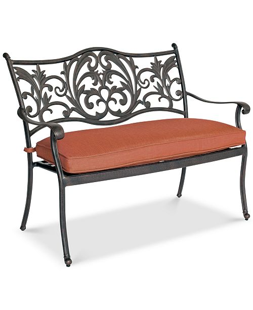 Furniture CLOSEOUT! Chateau Cast Aluminum Outdoor Dining Bench, Created for Macy's
