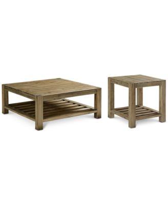 Canyon 2 Pc. Set (Coffee U0026 End Table), Created For Macyu0027s