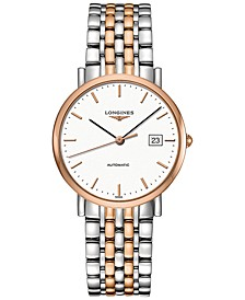 Men's Swiss Automatic The Longines Elegant Collection Two-Tone Stainless Steel Bracelet Watch 37mm L48105127