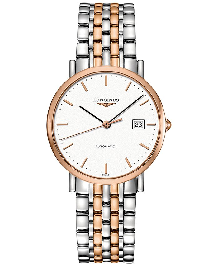 Longines - Men's Swiss Automatic The  Elegant Collection Two-Tone Stainless Steel Bracelet Watch 37mm L48105127