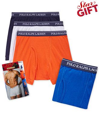4-Pack Ralph Lauren Men's Apparel: Boxer Briefs or Undershirts $19 & More + Free Store Pickup