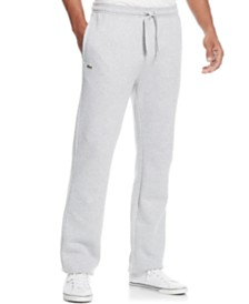 Lacoste Fleece Sweat Pants with Elastic Leg Opening