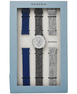 Skagen Men's Holst Dark Gray Strap Watch