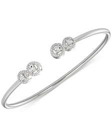 Diamond Cluster Bangle Bracelet (1/6 ct. t.w.) in Sterling Silver, Created for Macy's
