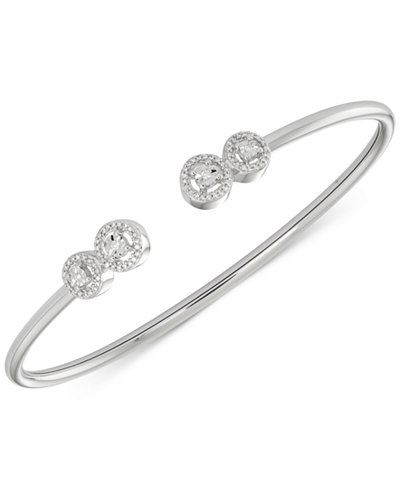 wrapped™ Diamond Cluster Bangle Bracelet (1/6 ct. t.w.) in Sterling Silver, Created for Macy's
