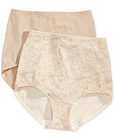 Bali Light Tummy-Control Cotton 2-Pack Brief X037