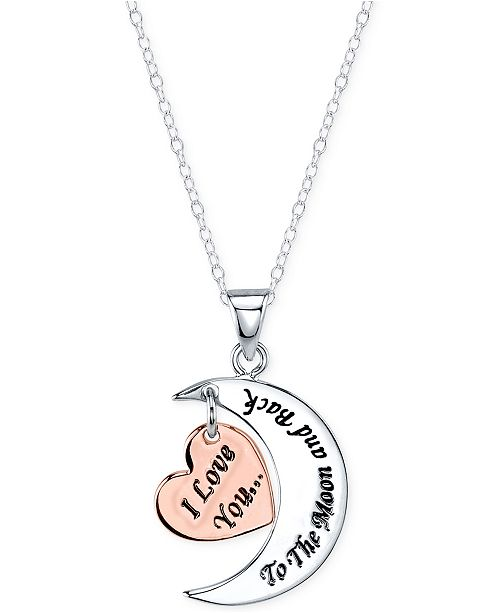 Unwritten 18 i love you to the moon and back pendant necklace in main image main image mozeypictures Images