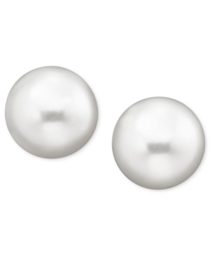 Belle de Mer Cultured Freshwater Pearl Stud Earrings (8mm)