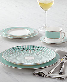 Brian Gluckstein by Lenox Dinnerware, Clara Aqua Collection