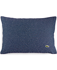 "CLOSEOUT! Lacoste Home Caique Texture Canvas 12"" x 18"" Decorative Pillow"