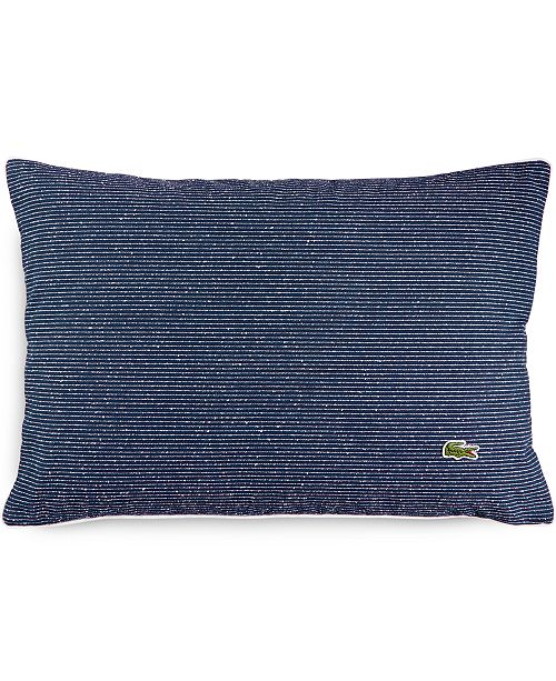 "Lacoste Home CLOSEOUT! Caique Texture Canvas 12"" x 18"" Decorative Pillow"