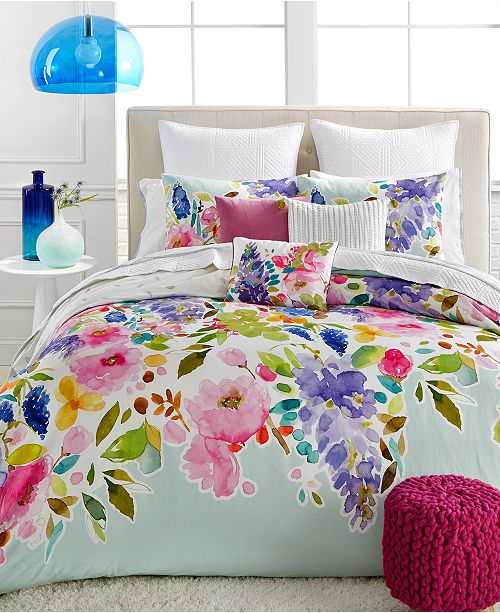 bluebellgray Wisteria Mint Comforter Sets