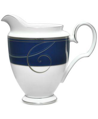 Platinum Wave Indigo  Porcelain Creamer