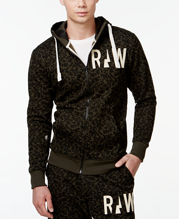 star raw fleece zip front hoodie hoodies sweatshirts men. Black Bedroom Furniture Sets. Home Design Ideas