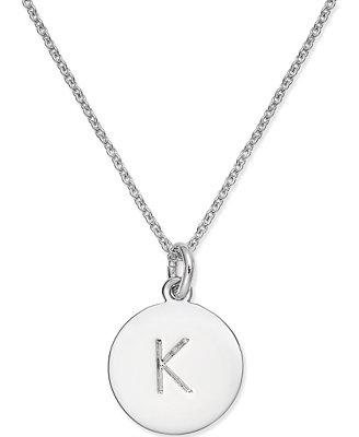kate spade new york Silver-Tone Disc Initials 18