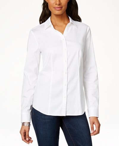 Charter Club Long-Sleeve Shirt, Created for Macy's - Sweaters ...