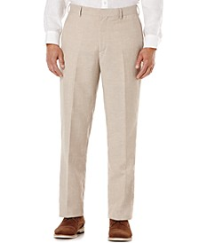 Flat Front Easy Care Linen Pants