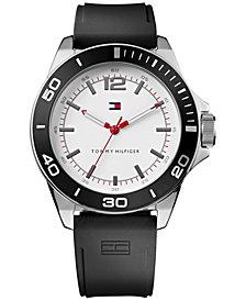 Tommy Hilfiger Men's Black Silicone Strap Watch 48mm 1790920