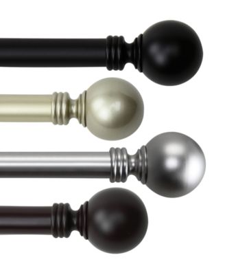 Globe Single Curtain Rod 48-84''