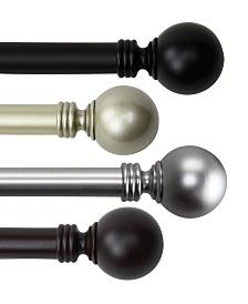 Rod Desyne Globe Single Curtain Rod Collection