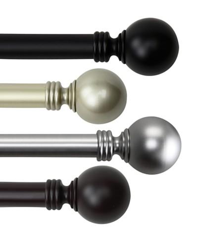 Rod Desyne Globe Single Curtain Rod Collection