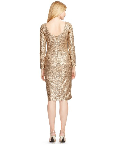 d1423ab5 Lauren Ralph Lauren Sequined Scoop-Back Dress & Reviews - Dresses ...
