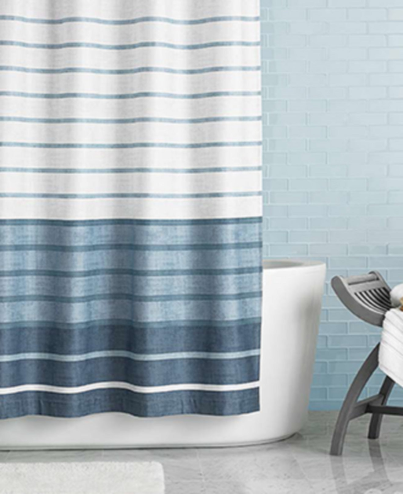 Mint green shower curtain and rugs - Hotel Collection Colonnade Shower Curtain Only At Macy S
