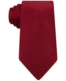 Calvin Klein Extra Long Silver Spun Solid Slim Tie