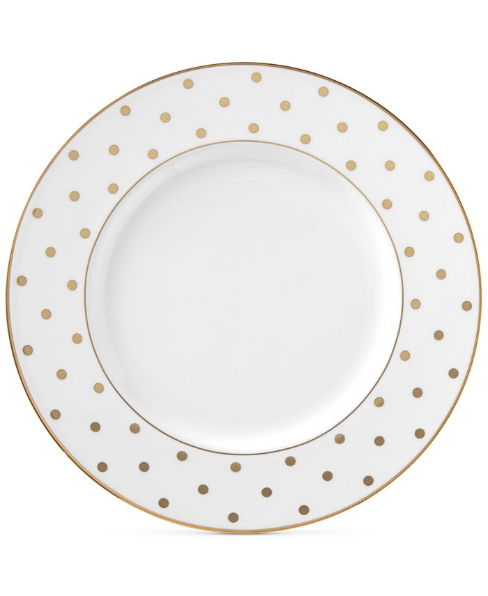 kate spade new york - Larabee Road Gold Collection Bone China Accent Plate