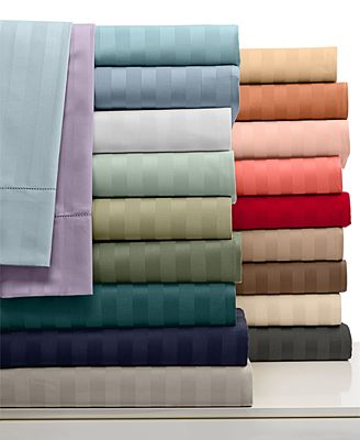 closeout! charter club damask stripe sheet sets, 500 thread count