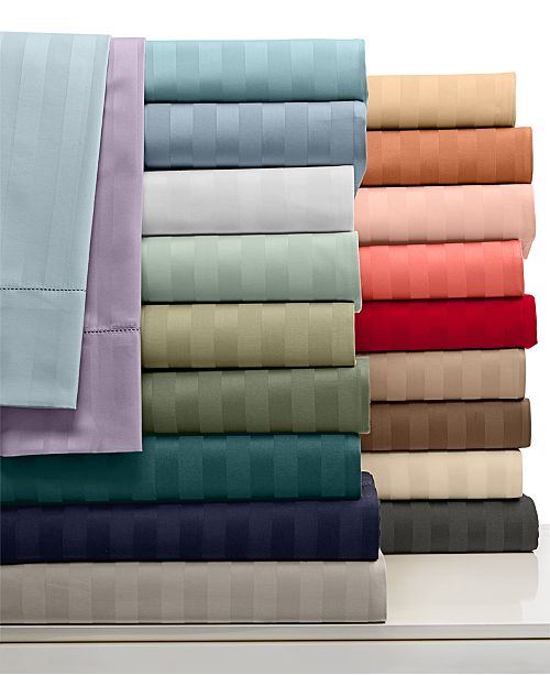 Charter Club CLOSEOUT! Stripe Twin 3-pc Sheet Set, 500 Thread Count 100% Pima Cotton, Created for Macy's