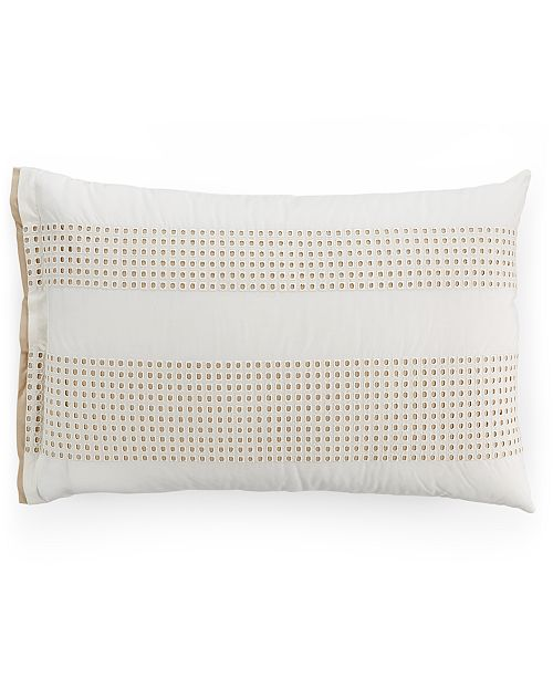 Hotel Collection  Modern Eyelet Pair of King Shams, Created for Macy's