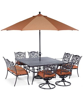 Chateau Outdoor Cast Aluminum 8-Pc. Dining Set (64