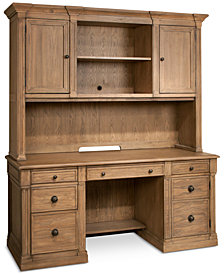 CLOSEOUT! Sherborne Home Office Furniture, 2-Pc. Set (Credenza Desk & Hutch)
