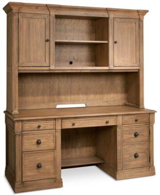 furniture closeout sherborne home office furniture 2 pc set rh macys com Fulton Credenza with Hutch Hon Credenza with Hutch