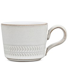 Natural Canvas Stoneware Textured Espresso Cup