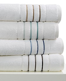 Ultimate MicroCotton Borderline Bath Towel Collection, 100% cotton, Created for Macy's
