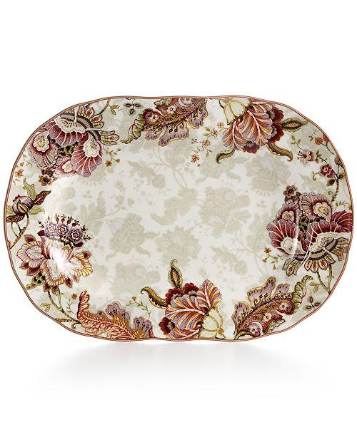 222 Fifth Gabrielle Cream Oval Platter - Serveware - Dining ...