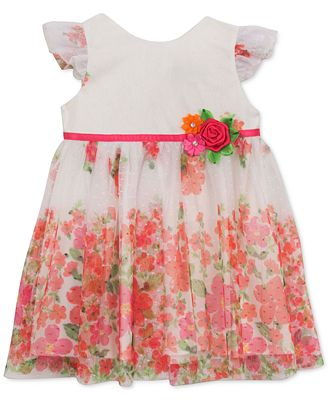 Rare Editions Baby Girls Floral Print Dress Dresses