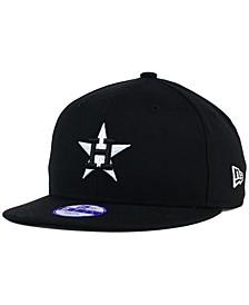 Kids' Houston Astros Black White 9FIFTY Snapback Cap